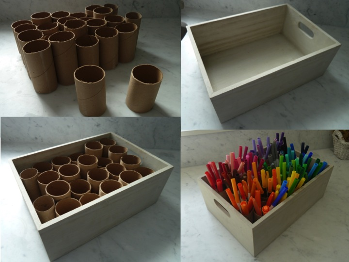 DIY marker organizer