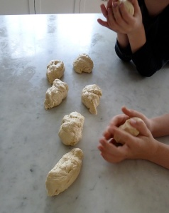 rolling the dough 1