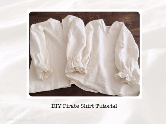 DIY pirate shirt tutorial