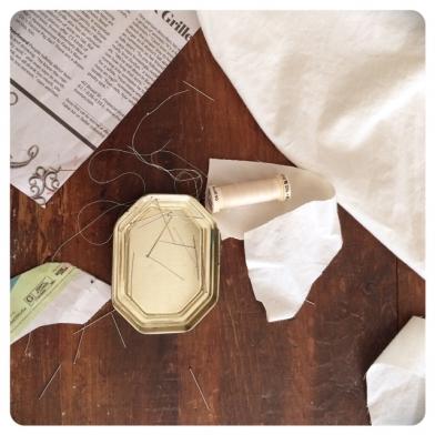 sewing debris