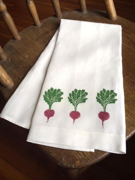 beets tea towel
