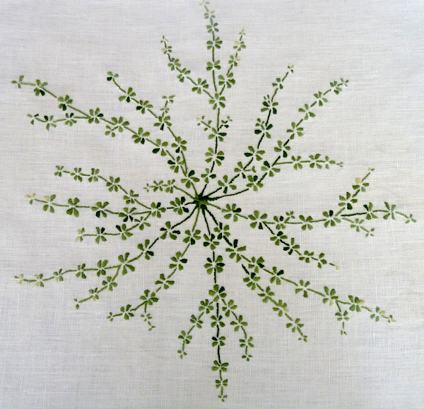 overview galium embroidery