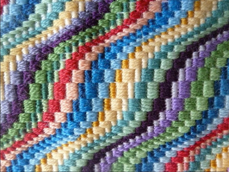 close up modern bargello