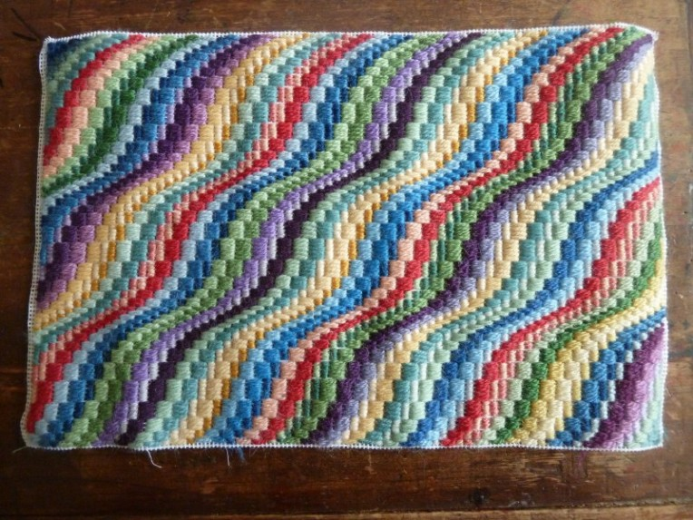 multi color modern bargello
