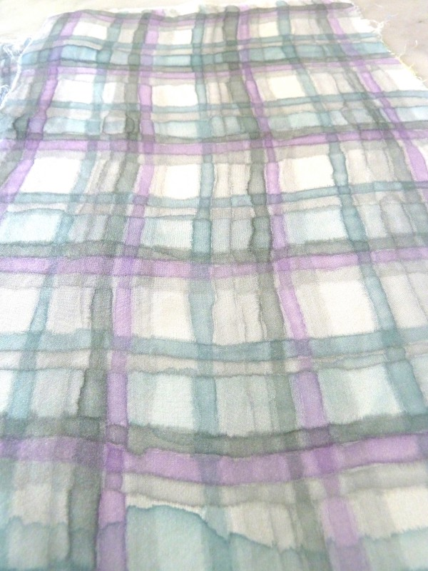 soft silk painted plaid
