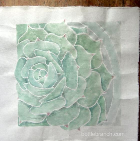 close up succulent print