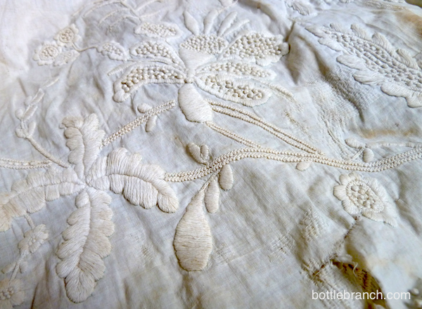 details from whitework petticoat
