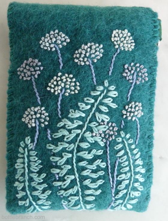 embroidered umbels case