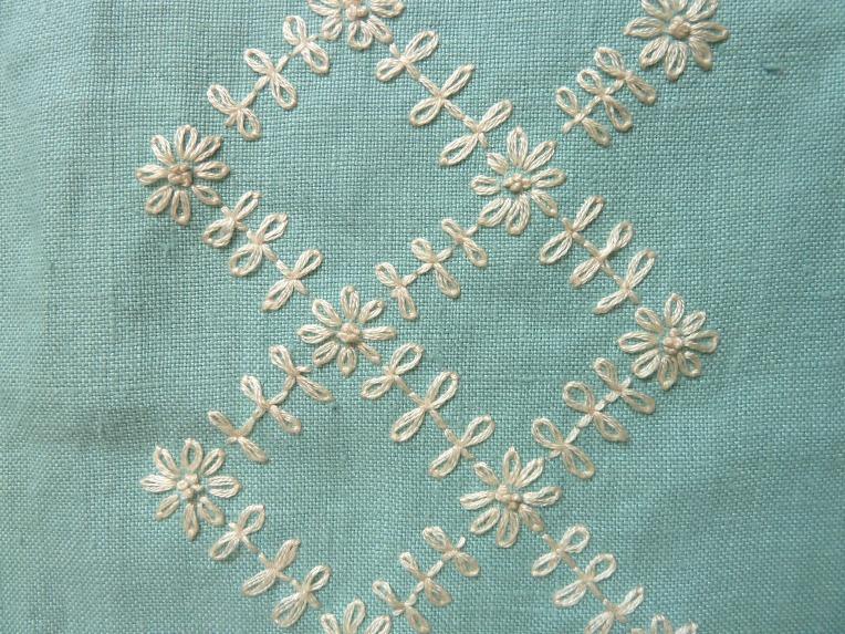 detail lattice whitework