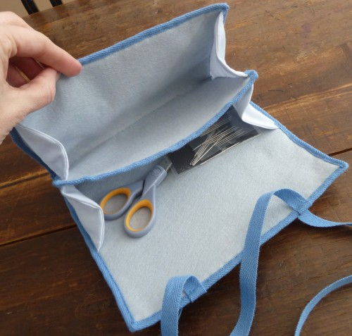 opened up sewing case