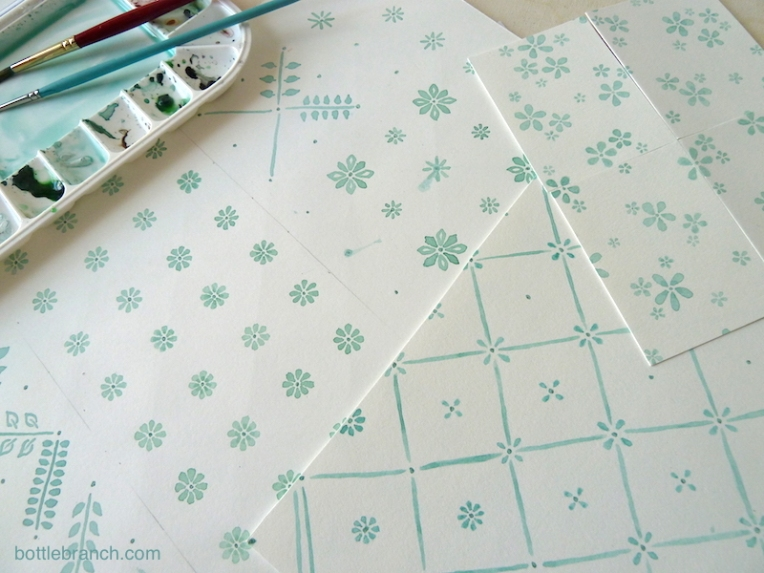 watercolor fabric designs