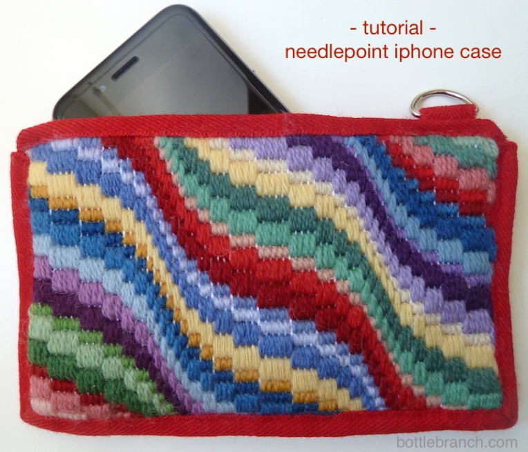 bargello iphone case completed for pinning