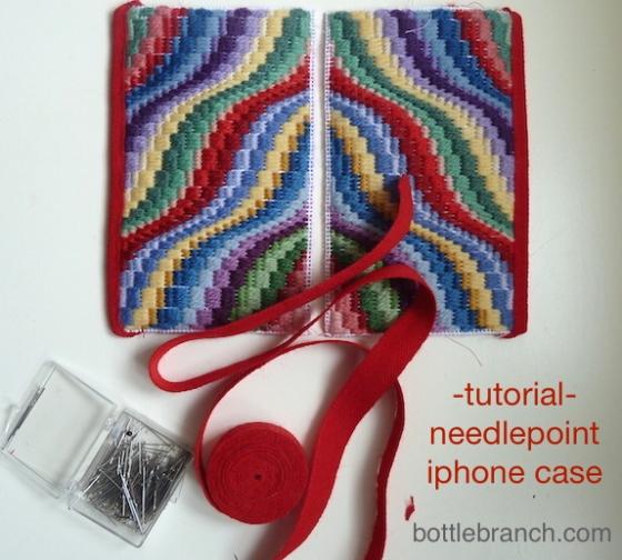 needlepoint phone case tutorial