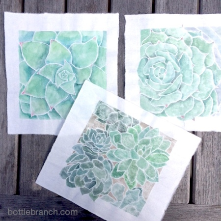 succulent white line prints