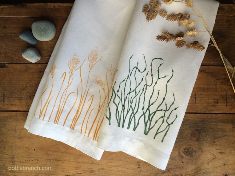two tea towels bottle branch blog