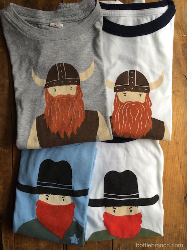 viking and cowboy t shirts