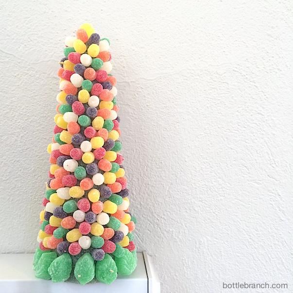 completed gum drop tree bottle branch blog