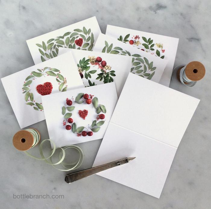 valentine's card set by bottle branch