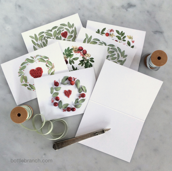 valentine's card set by bottle branch