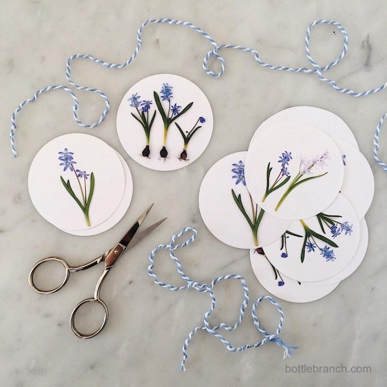 making gift tags bottle branch blog
