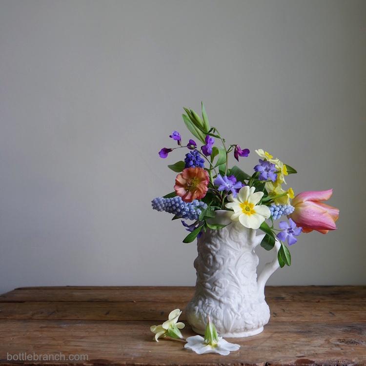 flowers still life bottle branch blog