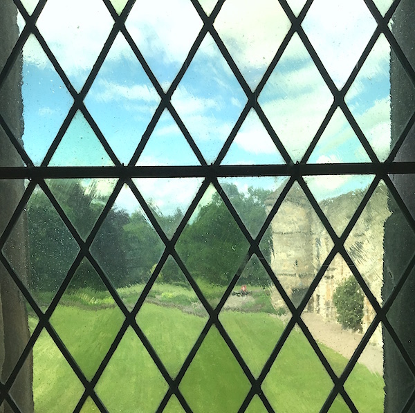 view through window at falkland palace