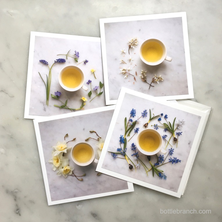 pretty tea time cards by bottle branch