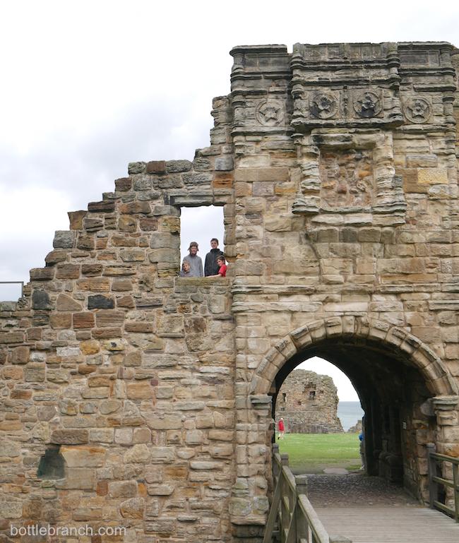 st. andrews castle scotland bottle branch blog