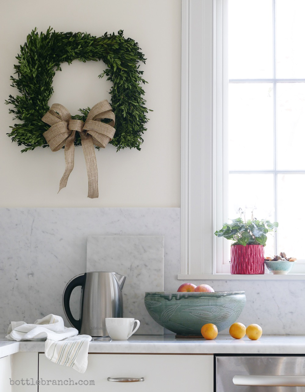holiday kitchen scene by elizabeth pyle