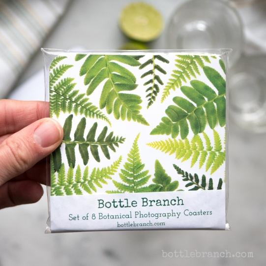 fern coasters by bottle branch