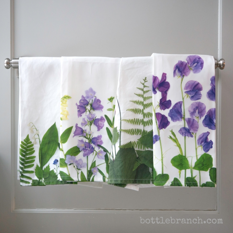 tea towels by bottle branch
