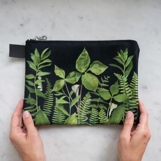 greenery on black case