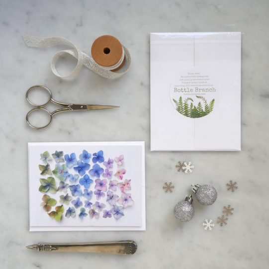 holiday hydrangea card