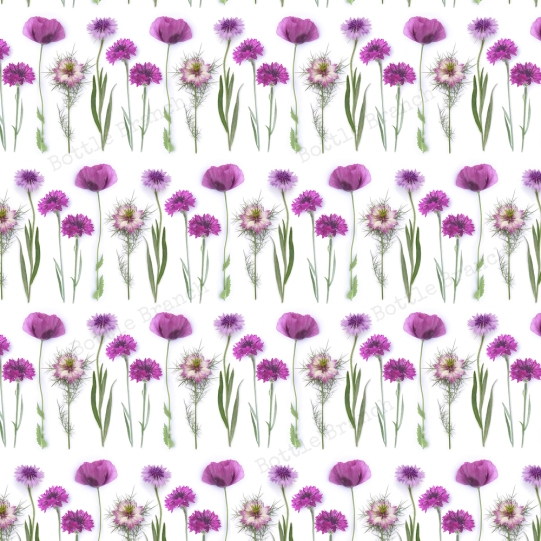 purple flowers repeating pattern