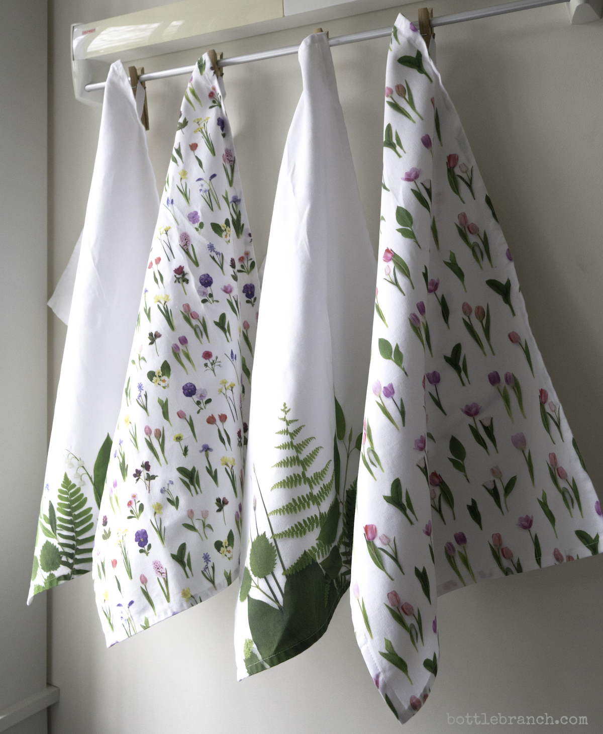 selection of tea towels by bottle branch blog