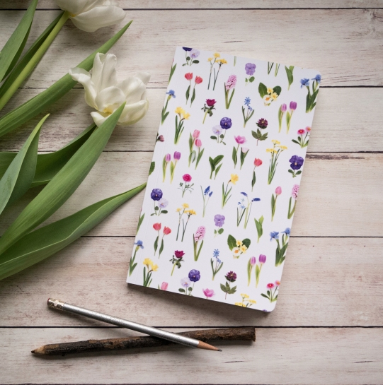 spring flowers notebook